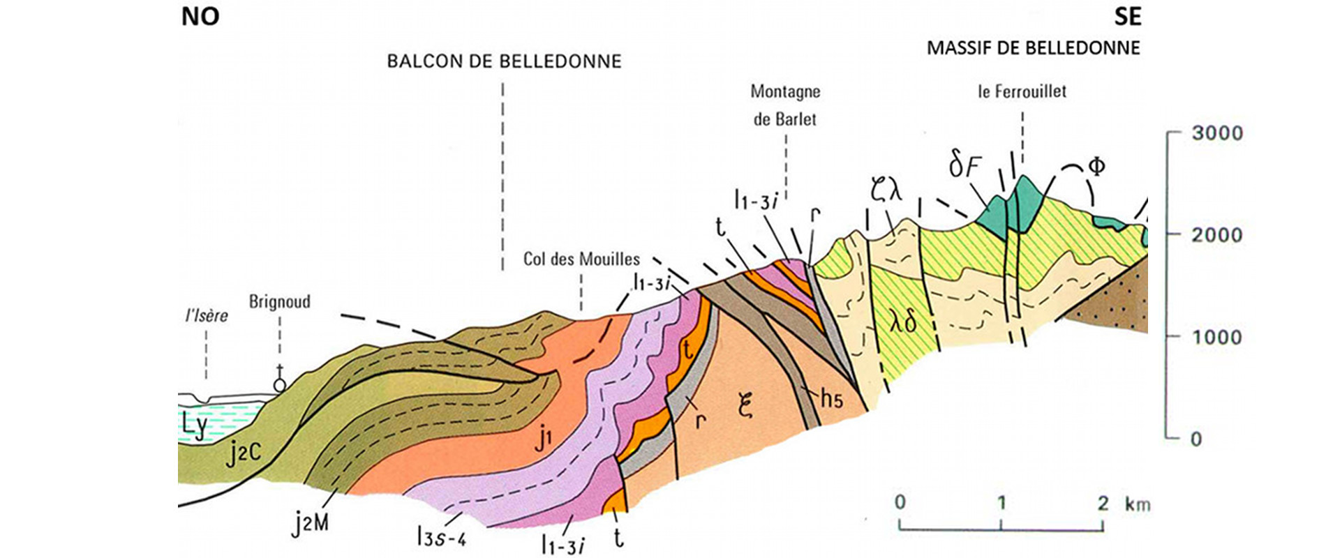 La bordure occidentale du massif de Belledonne